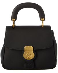 Burberry - Dk88 Top Handle Leather Shoulder Bag - Lyst