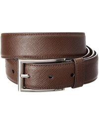 Prada - All Designer Products - Adjustable Saffiano Leather Belt - Lyst