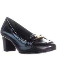 Lauren by Ralph Lauren - Tatum Block Heel Court Shoes, Black - Lyst