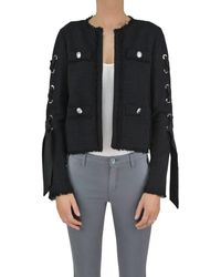 Pinko - Women's Black Cotton Jacket - Lyst