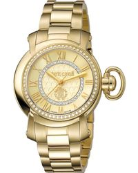 Roberto Cavalli - Womens Gold Watch With Champagne Dial - Lyst