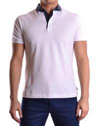 Armani - Men's 3xcf57cjdyz0100 White Cotton Polo Shirt - Lyst