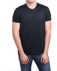 b9a8f01d Lyst - Ermenegildo Zegna Z Zegna By Men Double Collar T-shirt Blue ...