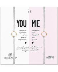 Dogeared - Core 14k Over Silver Adjustable Bracelet Set - Lyst