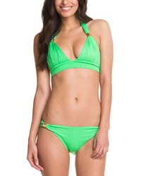 c644d7b7f8541 Shoshanna Seven Lakes Stripe Bikini Top - White neon Orange in Pink ...