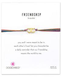 Dogeared - Friendship 14k Over Silver Adjustable Bracelet - Lyst