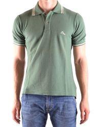 Evisu - Men's Green Cotton Polo Shirt - Lyst