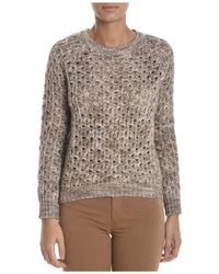 Sun 68 - Women's Beige Cotton Jumper - Lyst