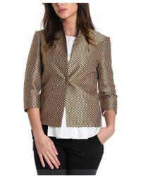 Manila Grace - Women's Gold Polyester Blazer - Lyst