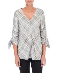 Bobeau - Kit Tie Sleeve Blouse - Lyst