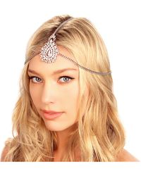 Kristin Perry - Crusted Medallion Chain Headpiece - Lyst