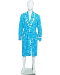 Lilly Pulitzer - Vintage Men s Blue Bathrobe One Size - Lyst 2b4db34b5