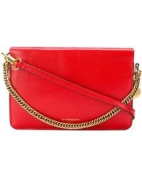 Givenchy - Women's Red Leather Shoulder Bag - Lyst