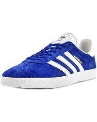 Adidas Originals | Gazelle Men Round Toe Suede Blue Walking Shoe | Lyst