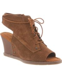 BEARPAW - Women's Aracelli Wedge Shootie - Lyst