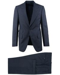Tom Ford - Navy Mohair Peak Lapel Button Front Two Piece Suit - Lyst