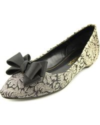 Caparros - Princess Women Pointed Toe Synthetic Gold Flats - Lyst