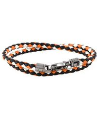 Tod's - Men's Orange Leather Bracelet - Lyst