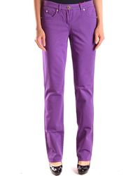 Blugirl Blumarine - Women's Mcbi044032o Purple Cotton Jeans - Lyst
