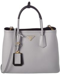 Prada - All Designer Products - Saffiano Cuir Leather Double Handle Tote - Lyst