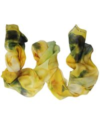 Elie Saab - Women's Yellow Silk Scarf - Lyst