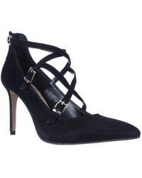 Vince Camuto - Neddy Multi Strap Pointed Toe Dress Heels - Black - Lyst