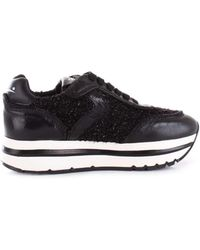 Voile Blanche - Women's Black Patent Leather Sneakers - Lyst