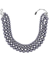 Laundry by Shelli Segal - 3 Row Pearl Choker Necklace - Lyst