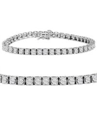 Amanda Rose Collection - Ags Certified 3ct Tw Diamond Tennis Bracelet In 14k White Gold (7.25 Inch) - Lyst