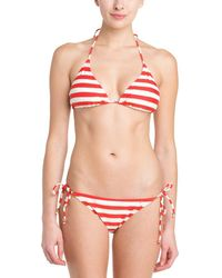 French Connection - Sun & Sea Lady Rogue & Gold Stripe Bow Tie Brief - Lyst