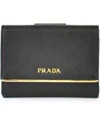 Prada - Square Flap Wallet - Lyst