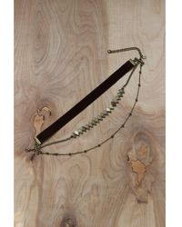 Love Leather - Piece Of My Heart Choker - Lyst