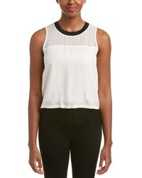 Chelsea and Walker - Lace-hem Silk Tank - Lyst