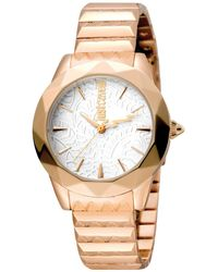 Just Cavalli - Rock Sangallo Women's Quartz Iprg Stainless Steel Bracelet Watch - Lyst