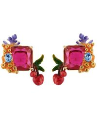 Les Nereides - Exoplanet Stone Branch Of Corals And Cherries Earrings - Lyst