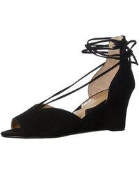3a06a10b6ea Adrienne Vittadini - Womens Marcey Suede Peep Toe Casual Platform Sandals -  Lyst