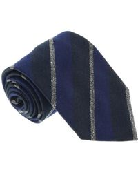 Missoni - U5121 Navy/grey Repp 100% Silk Tie - Lyst