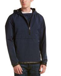 Vince - Highline Scuba Leather-trim Anorak - Lyst