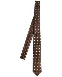Roda - Men's Brown Silk Tie - Lyst