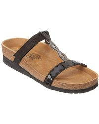 Naot - Aspen Leather Wedge Sandal - Lyst