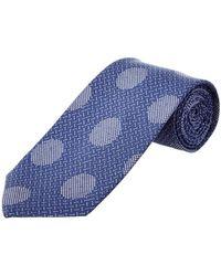 Cole Haan - Blue Dock Dot Silk-blend Tie - Lyst