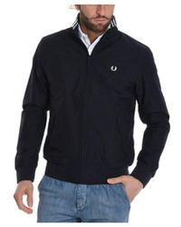 Fred Perry - Men's Black Polyamide Outerwear Jacket - Lyst