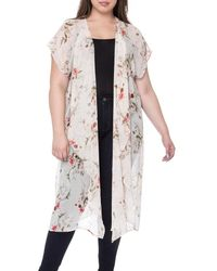 Bobeau - Brianna Plus Size Print Long Kimono - Lyst
