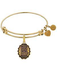 Angelica - U.s. Army Proud Sister Charm Expandable Bangle Bracelet, 7.25 - Lyst