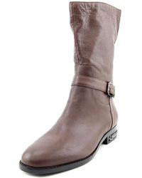 Carolinna Espinosa - Shirley Women Round Toe Leather Brown Boot - Lyst