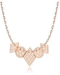 Rebecca - Women's Pink Steel Necklace - Lyst