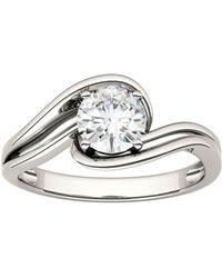 Charles & Colvard - Forever Classic Round 6.0mm Moissanite Engagement Ring, 0.80ct Dew - Lyst