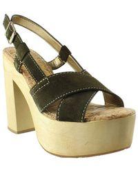 Sam Edelman - Womens Mae Mossgreen Wedge Sandals - Lyst