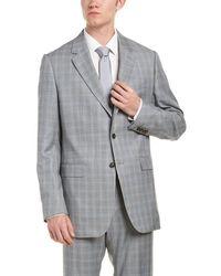 Façonnable - Wool Suit W/ Flat Front Pant - Lyst