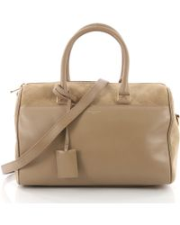 d4c6f257c411 Saint Laurent - Pre Owned Classic Duffle Bag Leather With Suede 12 - Lyst
